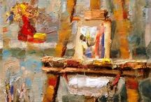"""Easel-eaze / """"Painting is silent poetry and Poetry is painting that speaks.""""      ~ Plutarch"""