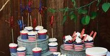 Fourth of July BBQ Ideas / Red, white & blue inspiration for your Memorial Day or 4th of July BBQ!