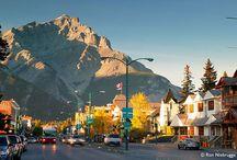 Banff National Park / Magnificent Banff National Park and the town of Banff.  First National Park in Canada.