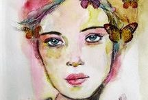 OyaArt / Paintings I done... Female portraits..and a bit more