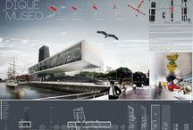 Archiboards / Architecture presentation boards examples.