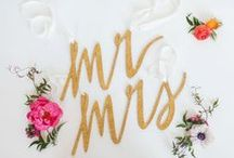 Mr & Mrs Signs / Beautiful ideas for your wedding reception decoration. A variety of Mr & Mrs signs for you to choose!
