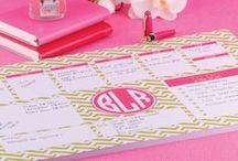 Desk Planner • Paperview / Para você se organizar e planejar semanalmente sua vida.