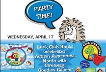 Geek Club Books Giveaways / We love helping bloggers by offering swag and other goodies for contests and giveaways