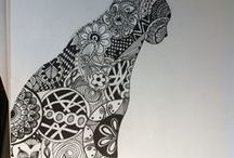 Doodle ❤ Zentangle / Zentangle patterns and  Zentangle tutorials. ❤  Easy doodle drawings. ❤ Bullet journal ideas and inspiration. ❤