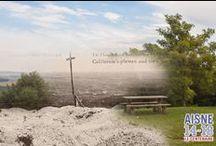 Chemin des Dames, paysages d'hier et d'aujourd'hui / A partir de la mi-septembre 1914 et jusqu'en octobre 1918, le Chemin des Dames constitue une ligne de front sur une crête située entre la vallée de l'Aisne au sud et de l'Ailette au nord.  Sur un parcours de 30 kilomètres, de nombreux sites permettent de découvrir et de comprendre l'histoire de ce lieu de mémoire bouleversant.
