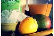 Superfood Smoothies / Delicious smoothies made with fruit, veg and nut milks. Just add Marvellous Superfood powders.