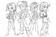 Character Design / Videogame character, draw, sketches ….