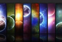Space Art - Universes Far Away or just a Doorway away in time / Outer Space Art -  Universes far Away or just a doorway away in time - Landscapes and Such places in art science fiction designs illustrations digital artworks  / by Cajun Fire