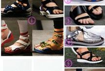 TREND - SANDAL TRENDS / Ugly sport sandal trend and CRISSCROSS Clog and wedge sandal trends.