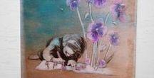Acryl Malerei-Acrylic painting / Handgemalte Acrylbilder auf Leinwand.