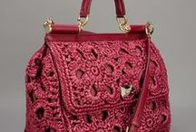 bags leather / crochet......!!!!!!!!!