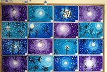 Kunst Grundschule / Ideensammlung, Bilder und Fensterdekoration für den Kunstunterricht in der Grundschule