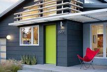 Bydlení - barevné dveře