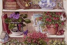 DECOUPAGE KITCHEN & GARDEN / Láminas e imágenes para decoupage o pintura decorativa con motivos de cocina y jardín. Country y antique.
