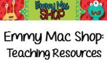 Emmy Mac Shop: Teacher Resources / Teacher Resources created by Emmy Mac Shop.