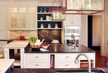 Cabinets with Open Shelving / http://www.kountrykraft.com/
