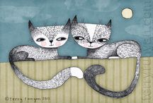 Cats / by Ideasfromtheforest Saartje Janssen