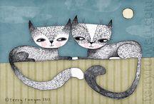 Cats / by Ideasfromtheforest Saartje Janssen