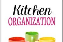 Organization - Kitchen / Organization in the kitchen, kitchen storage organization and kitchen counter organization tips. / by Lisa @ Organize 365