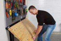 Garage Organization: Weeks 34 & 35 / Ideas for garage storage. Storage organization in the car and garage will help you get out the door on time and with everything you need in one trip.