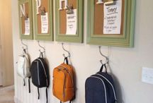 Drop Zone Organization / Organization tips for kids and families to get out the door with everything they need!