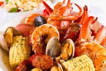 Fish & Seafood ♨ Feast for the Taste Buds / The harvesting, processing, and consuming of seafood are ancient practices that date back to at least the beginning of the Paleolithic period about 40,000 years ago. / by Aimée Hayes