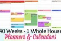 Week 2 - Calendar Organization- 40 Weeks 1 Whole House Challenge / An organized calendar is the key to getting more done and finding margin in your month. From color coding your calendar to taking days off, come find calendar organizing ideas. / by Lisa @ Organize 365