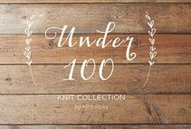 Under 100 / Patterns that use under 100g of yarn!