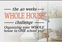 40 Weeks 1 Whole House complete Challenge / See how Professional Organizer, Lisa Woodruff, is re-organizing her house in 40 weeks! For the full list click here: http://organize365.com/40-weeks-1-whole-house/ / by Lisa @ Organize 365
