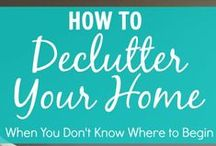 Organize Your Home / Ideas for organizing your home and making use of limited space. Cleaning hacks and reducing clutter.