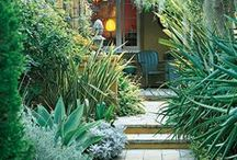 HOUSE EXTERIORS and GARDENS and LANDSCAPING IDEAS / by Moira Hickman