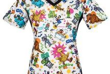 Cookie Monster Scrubs / Cookie Monster Scrub Tops