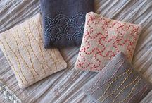 Sashiko & straignt stitch embroidery / All forms of running stitch embroidery, including Sashiko and Kogin from Japan and Kantha from India