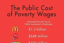 Social Class: The Minimum Wage / This board explores the persistence and growth of low wage labor and the controversy surrounding the raising of the minimum wage. Check out all our boards on the topic of social class to explore a host of other issues related to poverty and economic inequality.