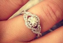 Wedding Ideas - Bling / Size 7 white gold. Round diamond. Twists, swirls, infinity.