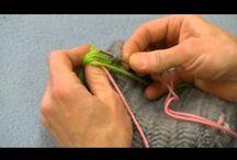 Nalbinding / Nalbinding, Viking Knitting, Single Needle Knitting, Bilum, Knotless Netting, Looping, Giveh / by Virginia Miller