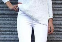 / white jeans /