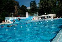 Baignade - Nager dans la piscine / Ce tableau met à l'honneur les nageurs ! La piscine s'est avant tout une histoire de passionner de baignade !