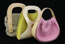 Bags Felt / Bags made from handmade felt and knitted or woven felt.