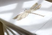Luxury hand embroidered hand towels / Hand embroidered hand towels