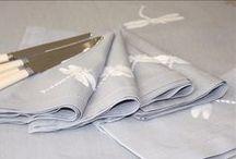 Hand embroidered napkins / Hand embroidered napkins