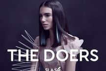 THE DOERS - 2016 / O Slash apresenta a sua coleção de corte, cor e styling para 2016.  We are The Doers. We're on the verge of hypertasking. We're on the go before the get going. We are the professionals, the party animals, the lovers and friends. We are super-heroes. We are those that walk ahead, we are those who are making the future.