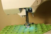 Binding and free form quilting