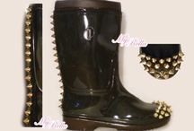 MyRella Shop's Rain Boots / Handcrafted Rain boots from MyRella Shop  You can find us @ http://www.etsy.com/shop/MyRellaShop