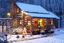 Log Cabins/Mountain Cabins/Log Homes / by renee ward