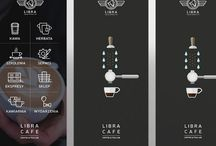 Roll up banner libra cafe / Roll up banner libra Tea & Coffe c.o.