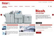 Hisar Teknoloji / Interface designs for Hisar Tech web site