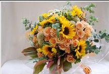 Sunflower bouquet / Bouquet of sunflowers ひまわりの花束