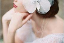 Wedding hair ornaments / 花嫁の髪飾り/ ヘッドドレス